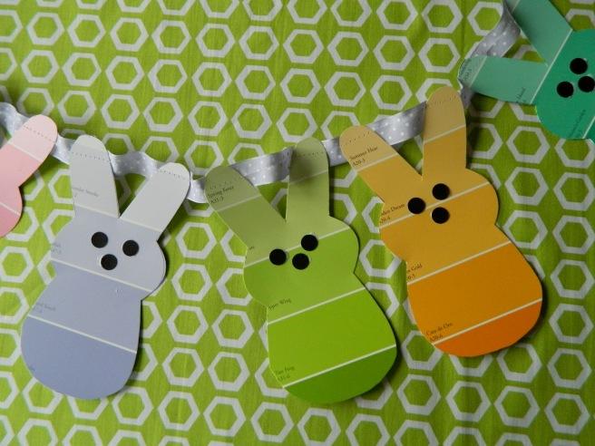 http://jennicanknit.blogspot.com/2012/03/paint-chip-bunny-garland.html
